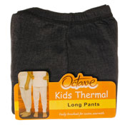 Kids Thermal Underwear Long Pants Grey