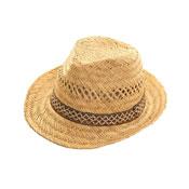 Straw Mens Trilby Hat