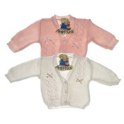 Knitted Baby Cardigan With Bow Detail