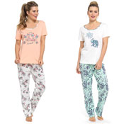 Ladies Printed Pyjama Jersey Set