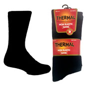 Mens Non Elastic Thermal Socks Black