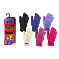 Ladies Heat Machine Thermal Knitted Gloves