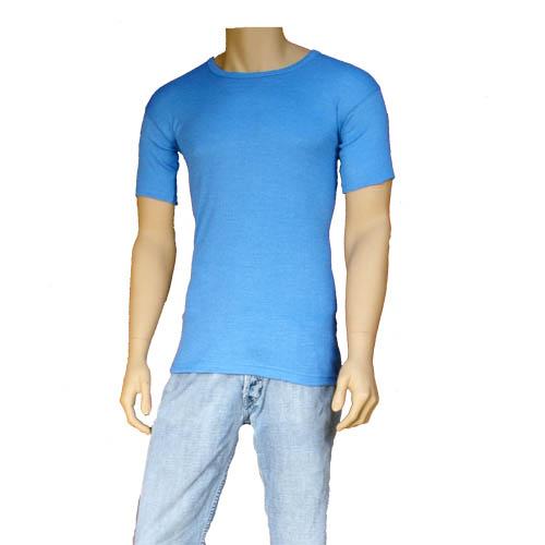 Mens Thermal Underwear T-Shirt Blue