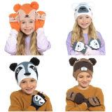 Kids Animal Hat And Mitten Set