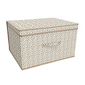 Natural Knitted Design Jumbo Storage Chest