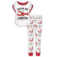 Official Ladies Friends Lobster Pyjama Set