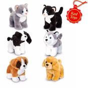 12CM Standing Cats & Dogs With Sound