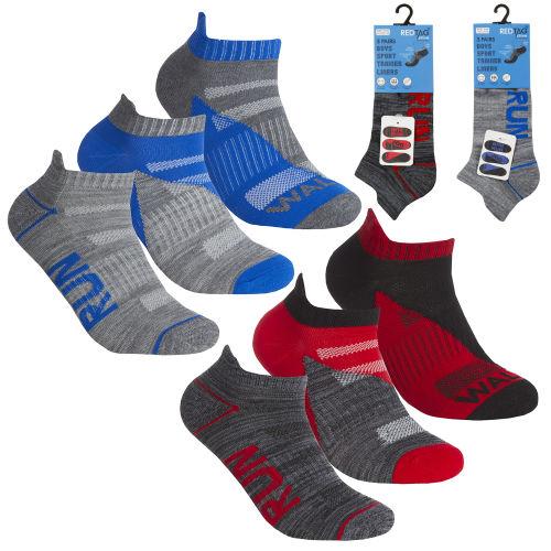Boys 3 Pack Trainer Socks Run Walk Jog