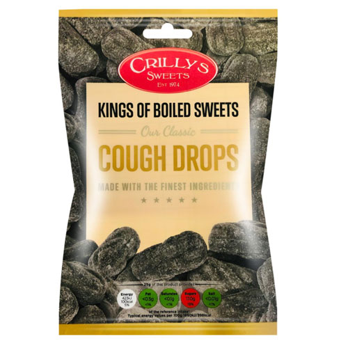 Cough Drops Crillys Sweets 130g Bag