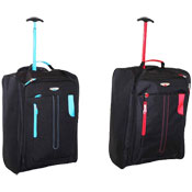 Super Lightweight Cabin Luggage Travel Bag Blue/Red