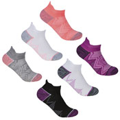 Ladies Sport Trainer Liners Socks Zig Zag Mesh