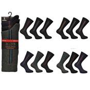 Mens Cotton Rich Ankle Socks Pin Stripe