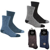 Mens Cosy Lounge Socks with Gripper