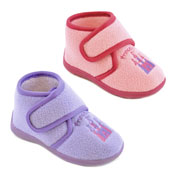 Girls Fleece Slippers Princess Pink/Lilac
