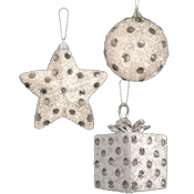 Diamante Glitter Baubles