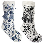 Ladies Fairisle Slipper Socks