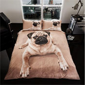 3D Pug Dog Duvet Set
