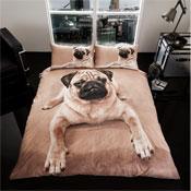 3D Pug Dog Duvet Set