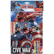 Captain America Civil War Colouring Pad and Pencils