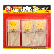 Wooden Mouse Traps 3 Pack