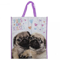 Pugs And Kisses Reusable Shopping Bag