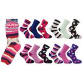 Ladies 3 Pack Co-Zees Cozy Winter Sock Dark