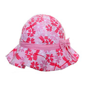 Girls Bush Hats With Bow