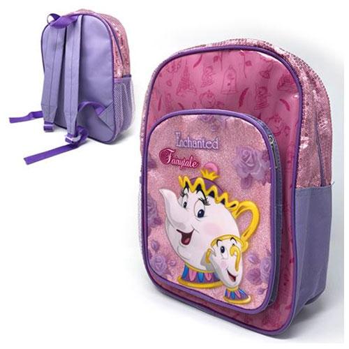 Official Mrs Potts Deluxe Glitter Front Pocket Backpack