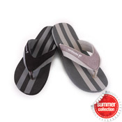 Mens Flip Flops Dark Stripes