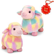20cm Standing Rainbow Sheep Soft Toy