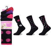 Polar Thermal Ladies Fashion Socks Dots