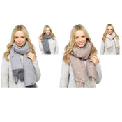 Ladies Star Print Reversible Scarf