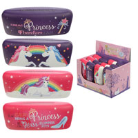 Princess Rainbow Unicorn Sunglasses Case