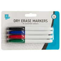 Dry Erase Markers 4 Pack