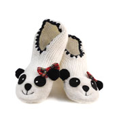 Ladies Novelty Panda Slippers