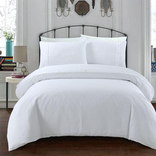Waffle White Hotel Quality Luxury Duvet Set