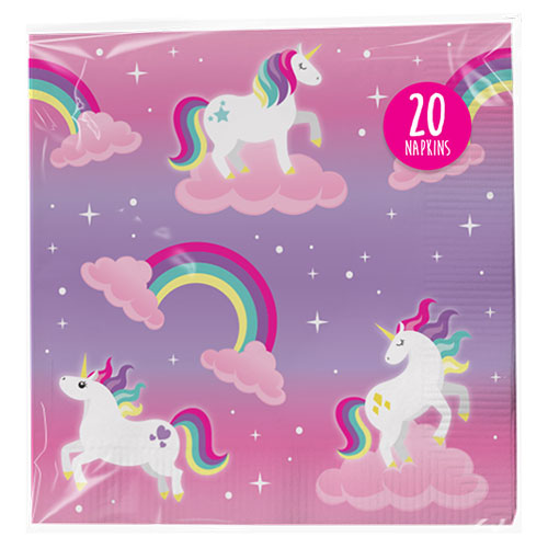 Unicorn Paper Napkins 20 Pack