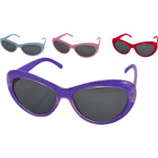 Girls Plastic Glitter Sunglasses