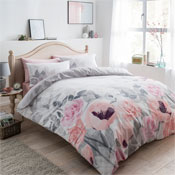 Faded Flowers Reversible Duvet Set