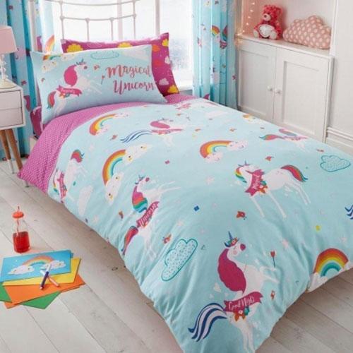 Unicorn Fairy Tale Rotary Duvet Set