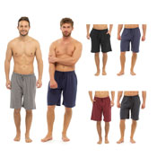 Mens Plain Jersey Lounge Shorts 2 Pack