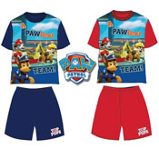 Boys Paw Patrol Top Pups Pyjamas Shortie Set
