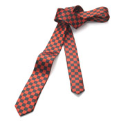 Black & Red Check Tie