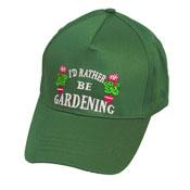 "Adult Baseball Cap ""I'd rather be gardening"""