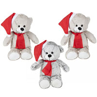 30cm Two Tone Santa Bear