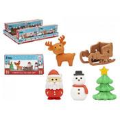 Christmas Eraser Set Assorted