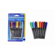 8 Permanent Marker Pen Set