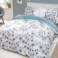 Photographic Floral Blue Duvet Set