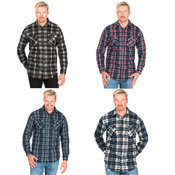 Mens Fleece Check Design Shirt