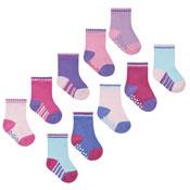 Baby Girls Heel & Toe Gripper Socks 5 Pack